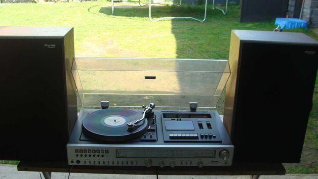 Radio Fisher + gramofon + kaseta i kolumny Panasonic