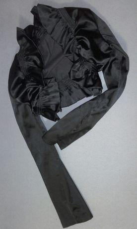 Czarna bolero galowe na długi rękaw