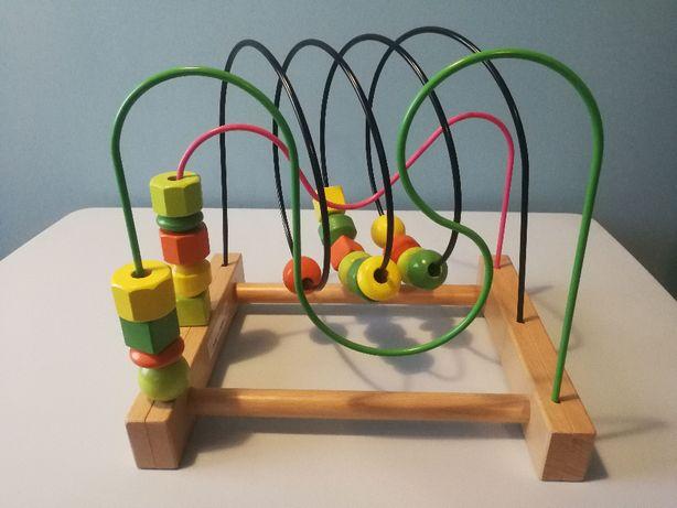 Ikea MULA zabawka drewniana edukacyjna jak NOWA