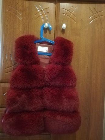 Мєхова жилетка для дівчинки