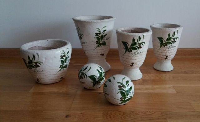 Doniczki na zioła osłonki ceramiczne zestaw