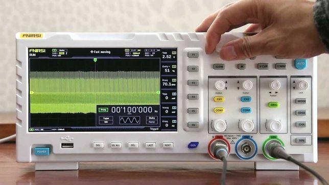 Осциллограф FNIRSI 1014D - 100 МГц, 1 ГВыб/с + генератор до 10 МГц