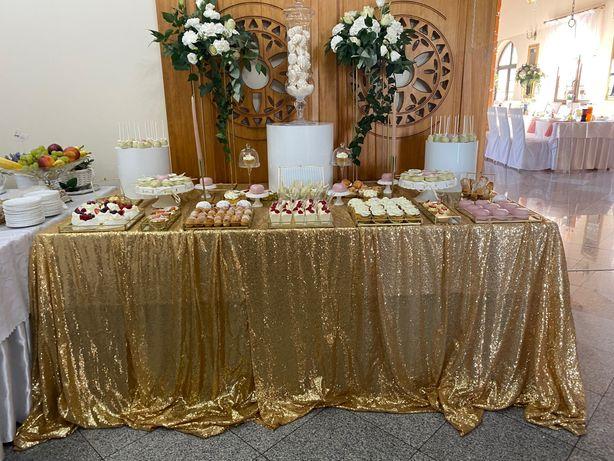 Słodki stół na wesela Gdańsk Trójmiasto okolice rustykalne, eleganckie