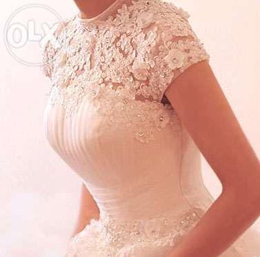 suknia ślubna princessa rozmiar 42, 46 koronka tiul ivory