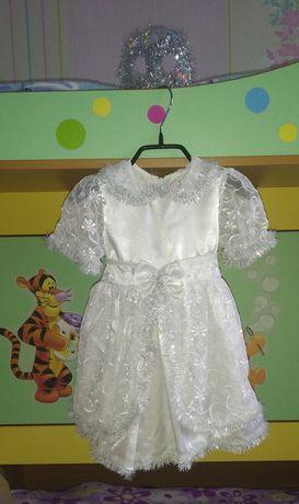 Нарядное платье для утренника на девочку 1-3 годика