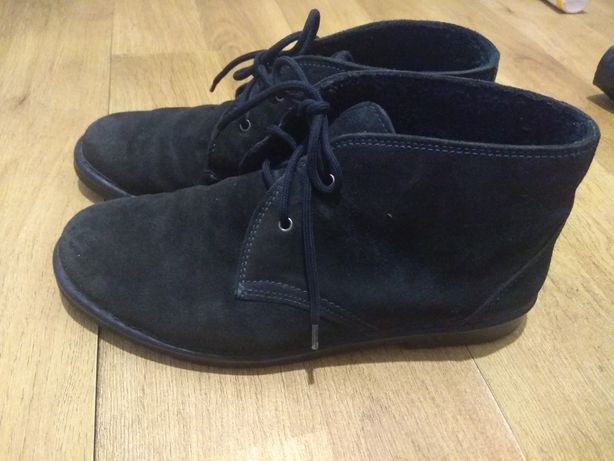 Деми ботинки замш