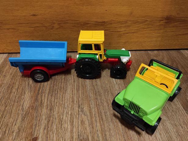 Трактор с прицепом + пикап фирмы Wader