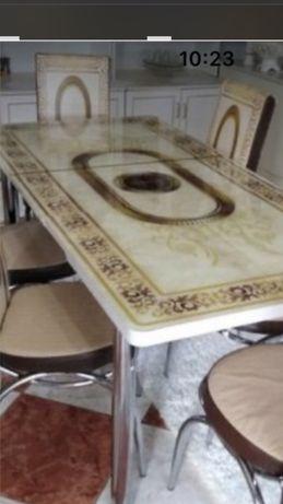 Стол кухонный 3 d рисунок,закаленное стекло