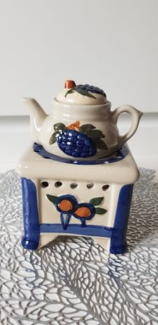 Porcelana ozdobna, swiecznik, podgrzewacz