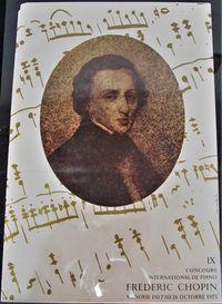 Plakat IX Concours international de piana Frideric Chopin