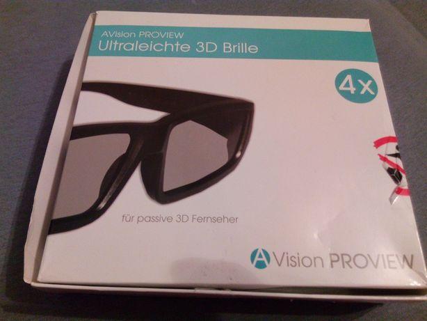 Okulary 3D 4 sztuki