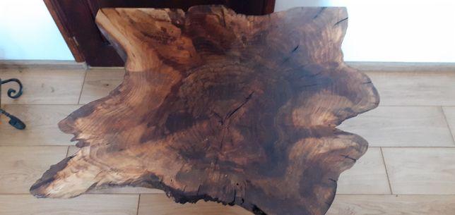 Stolik kawowy z plastra orzecha 80x100cm