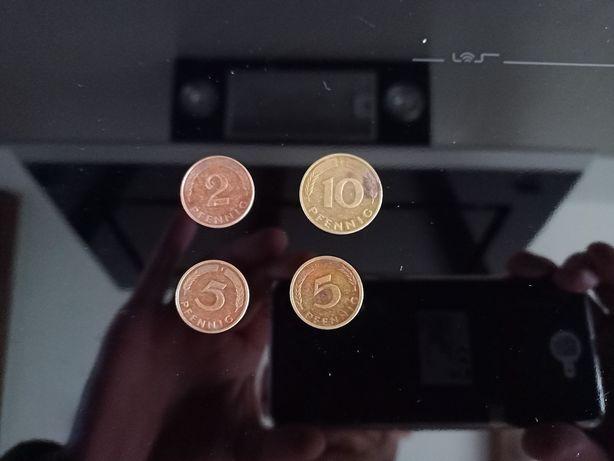 Monety 10,5,2 Pfennig 4sztuki komplet