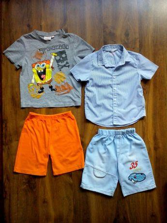 Zestaw H&M, Sponge Bob r.104: koszula, spodenki, t-shirt