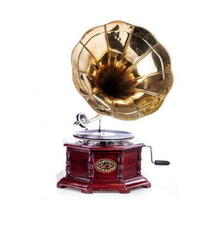 Funil gramofone dourado NOVOS