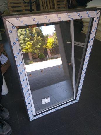 Inwentarskie okna PCV uchylne z podwójną szybą białe/kolor WYSYŁKA