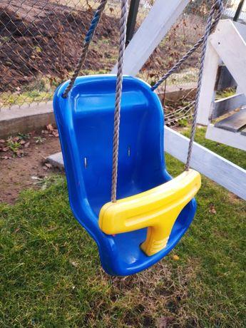 Huśtawka dziecięca ogrodowa z linkami i mocowaniem kubełkowa