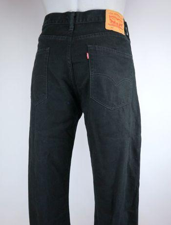 Levis 751 spodnie jeansy czarne W36 L32 pas 2 x 46 cm