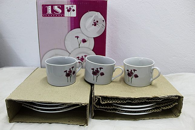 2x Zastawa/Serwis obiadowo-kawowy 15cz. (3os)