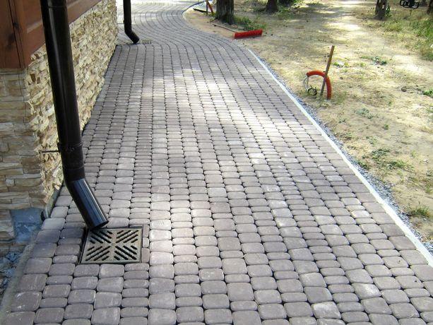 Укладка тротуарной плитки!