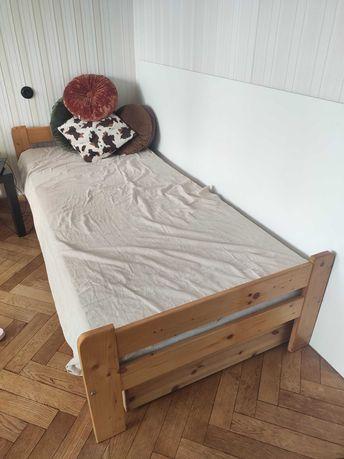 Łóżko drewniane jednoosobowe 90x200