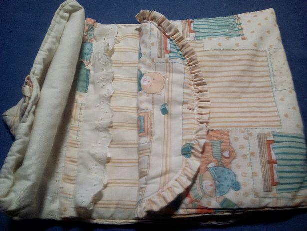 2 sacos porta-roupinhas / porta-fraldas coordenados c/ursinhos p/ bebé