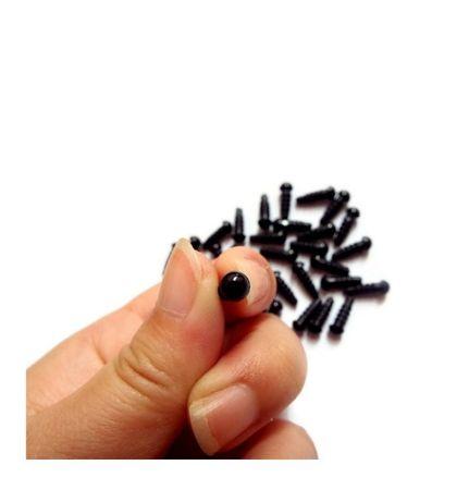 Глазки для игрушек с фиксаторами диаметр 5мм