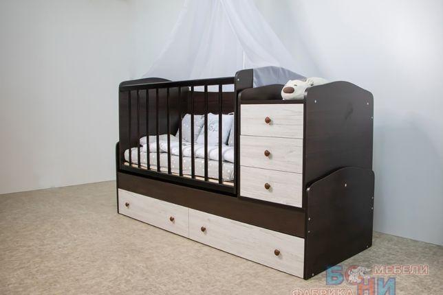 Детская кроватка-трансформер 3 в 1