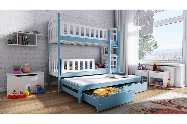 Łóżko piętrowe wysuwane 3 osobowe Nati - Meble Bogart