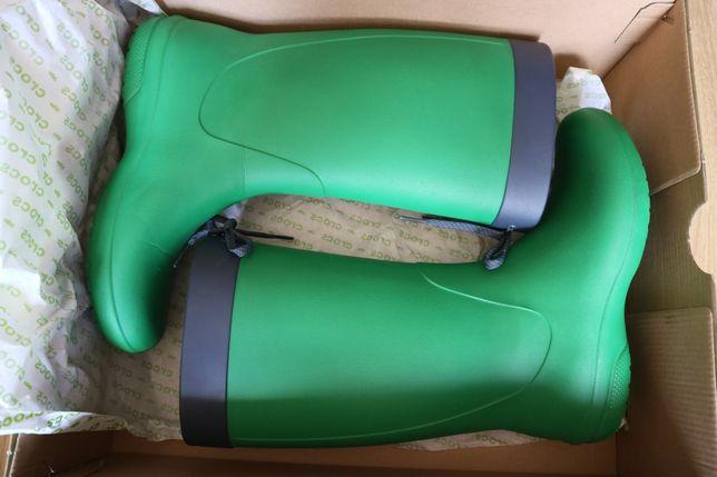Резиновые сапоги Crocs relaxed fit зеленые