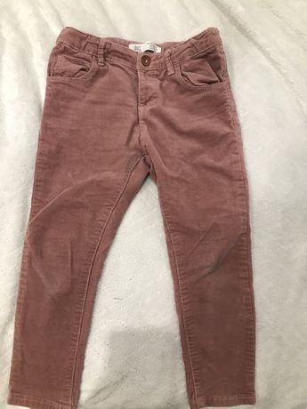 Spodnie sztrukoswe koszulka