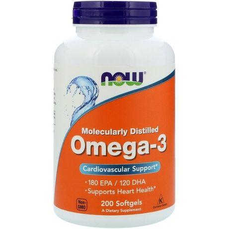 Now Foods, Омега-3, 200 капсул для сердца