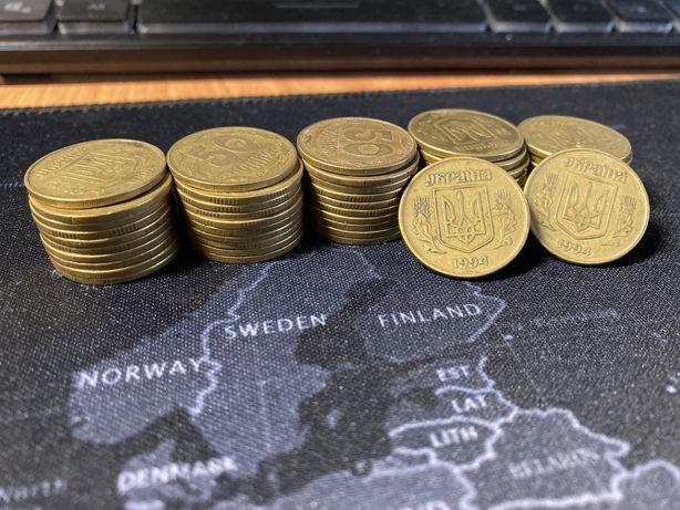 Монеты Украины номиналом 50 копеек
