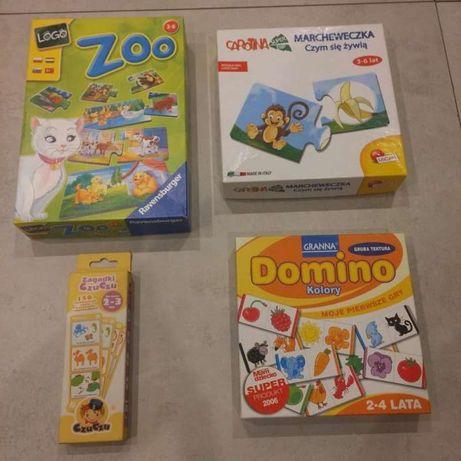 Domino gra edukacyjna dla najmłodszych-zestaw 4 szt.