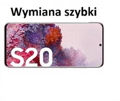 Szyba Samsung Galaxy S20 Wymiana Montaż zbitej szyby Gratis Serwis