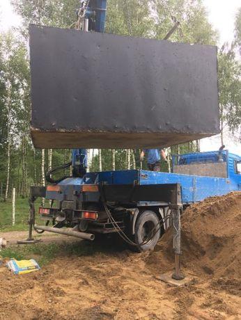 Szamba betonowe + wykop + montaż