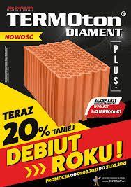 TERMOton P+W 25 DIAMENT Plus Λ = 0,158 W/(mK) Najcieplejszy pustak 15