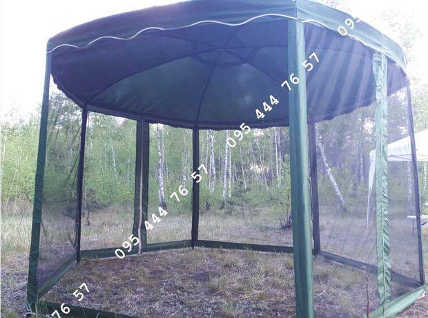 Павильон шестигранный основа ткань,3.6м х 3.6м беседка, альтанка шатер