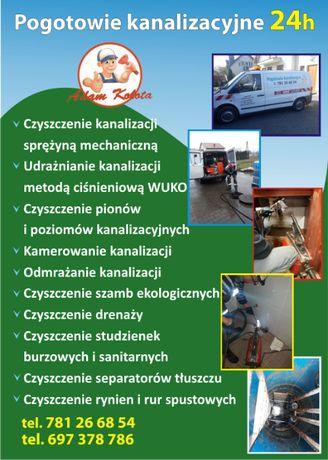 Udrażnianie rur ,kanalizacji, WUKO ,przepychanie rur hydraulik