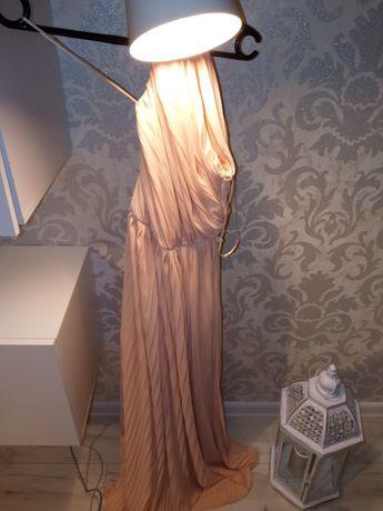 Raz używana plisowana długa suknia
