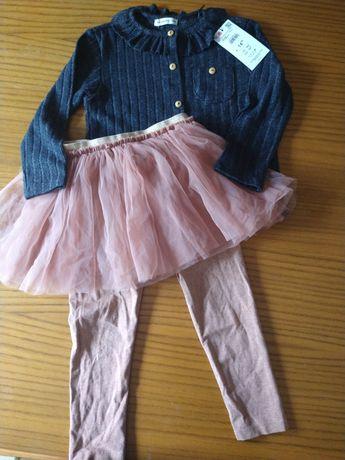Zestaw spodnie tutu bluzeczka Reserved next