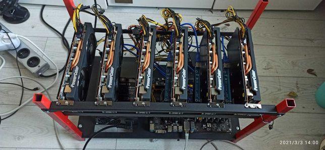 Koparka Kryptowalut 6x AMD 5700 XT ETH - OD REKI DOCHODOWA
