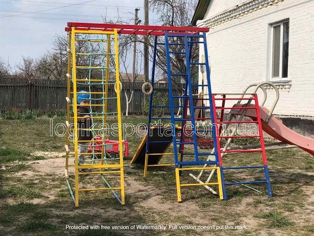 Горка, качели, игровая детская площадка, мат, спортивный комплекс