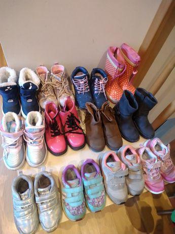 Buty dziewczęce 19 par , adidasy , zimowe , śniegowce , jesienne