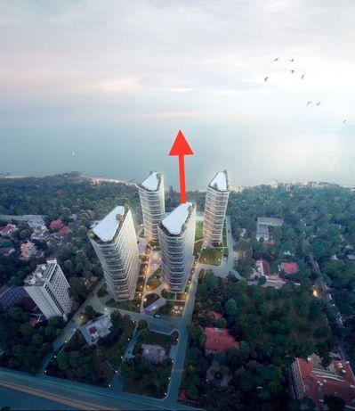 """Роскошная 2комн квартира с видом на море и террасой в ЖК """"Kandinsky"""" S"""