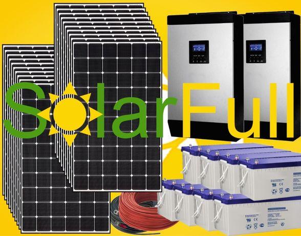 Kit – 10kw - Novo painel solar 410w - Monocristalino 20kw Prod. 8200wh