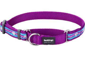 Ошейник полуудавка Red Dingo 25мм.(41-63см) Unicorn Purple