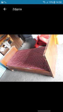 Łóżko drewniane vintage prl