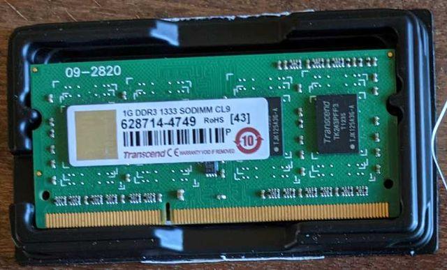 1 GB SO-DIMM DDR3 1333 MHz CL9 память для ноутбука б/у Transcend