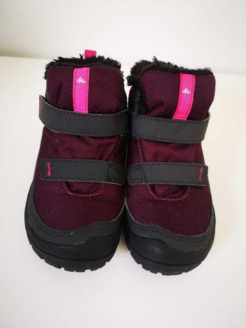 Botas de caminhada warm Criança, banda aderente, cor rosa, QUECHUA